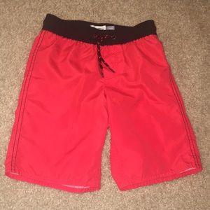 Boys red Swim Trunks